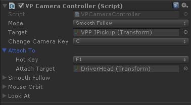 VP Camera Controller Attach-To
