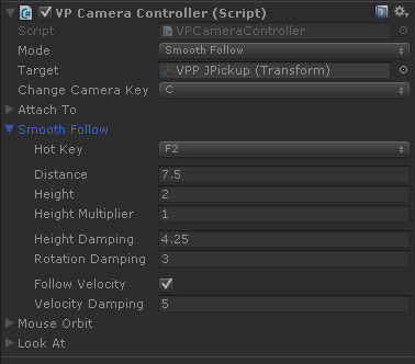 VP Camera Controller Smooth-Follow