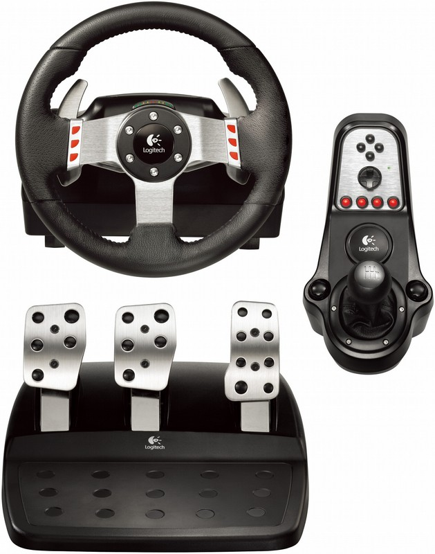 Logitech G27, shifter and pedals