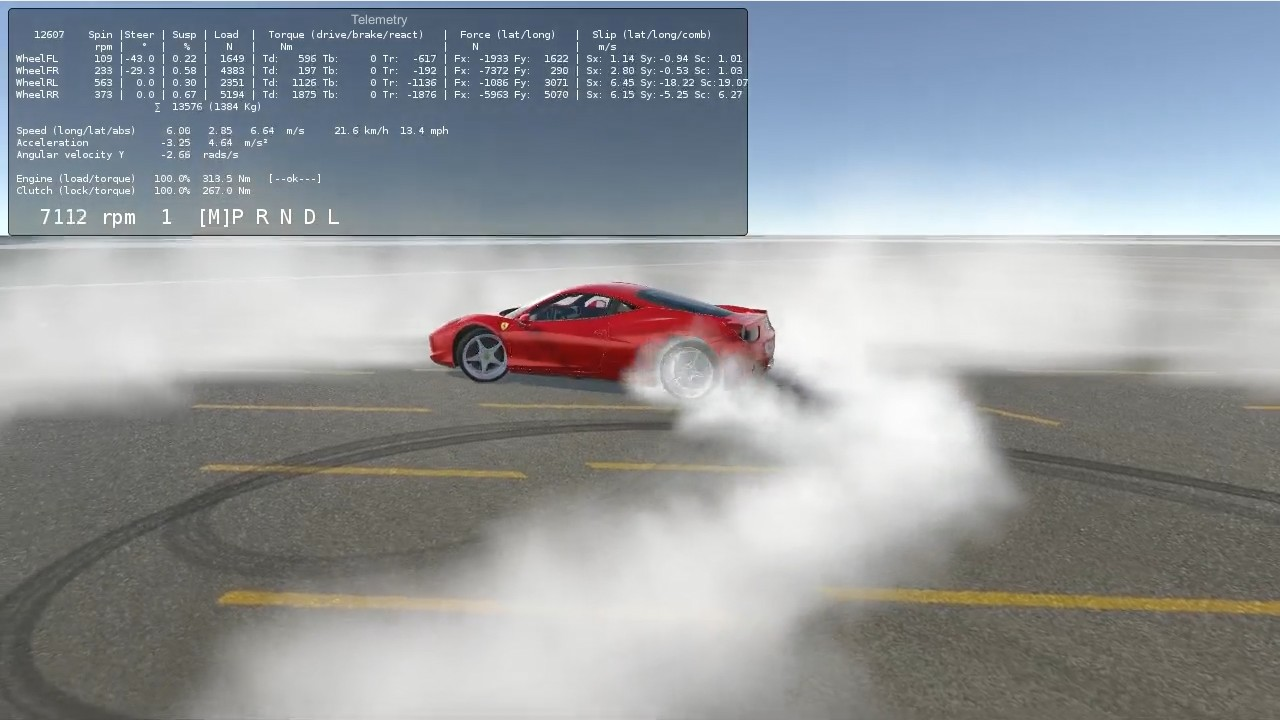 Ferrari 458 doing some donuts and burnouts