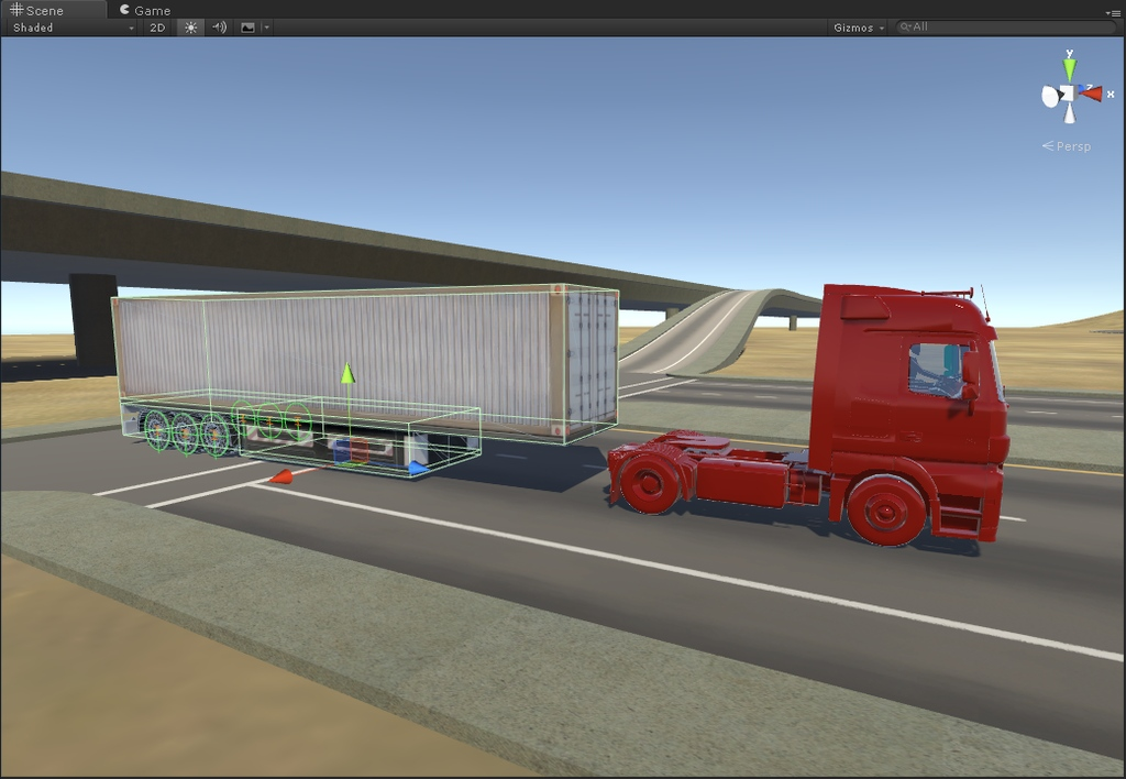 Setting up a Mercedes-Benz Actros to attach to its trailer