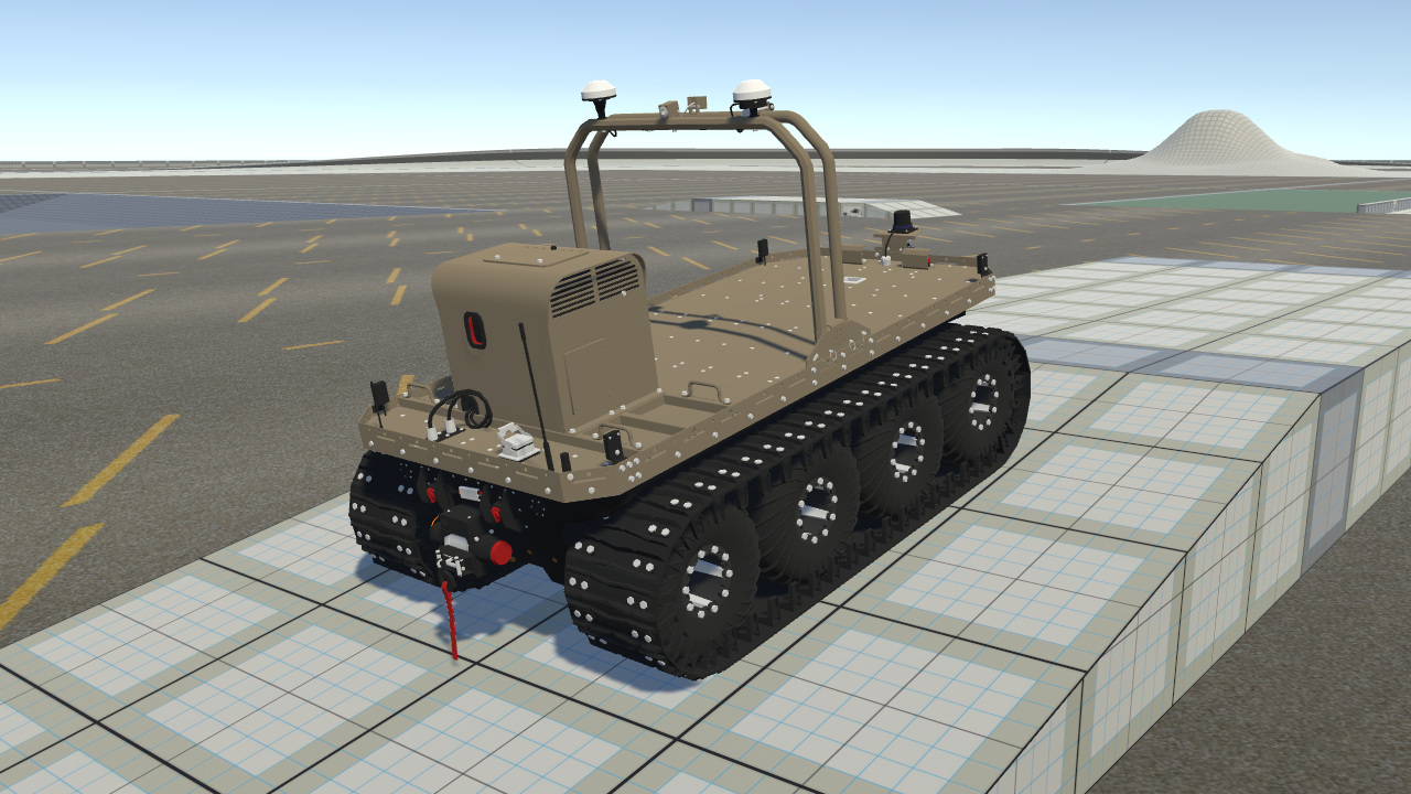 Argo J8 amphibious robotic vehicle with tracks